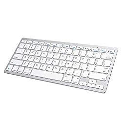 SPARIN Bluetooth Keyboard Compatible with iPad 10.2 / iPad 9.7 / iPad Pro 12.9 / iPad Air / iPad Mini and Other Bluetooth Enable iPads/iPhones, White