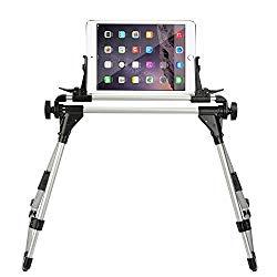 StillCool Tablet Holder for Bed, Adjustable and Foldable Tablet Stand Holder Fit for iPad iPhone Cellphone Tablet Kindle (Silver&Black)