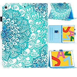SUPWANT iPad 10.2 2019 Case, iPad 7th Generation 10.2″ Cases, Shockproof Protective Stand Case Cover with Kickstand, Pencil Holder, Auto Wake/Sleep for iPad 10.2 Inch 7th Gen 2019, Mandala