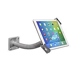 Tablet Mount, CTA Digital Security Gooseneck Tabletop & Wall Mount for 7-13″ Tablets/iPad 10.2-inch (7th Gen.), iPad Air 3, iPad Mini 5, 12.9-inch iPad Pro,iPad Gen 6, Surface Pro 4 & More