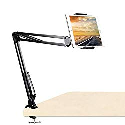 Tablet Mount Holder,Tablet Phone Arm Stand,Cell Phone Mount 360° Rotation Articulating Arm Phone Mount Stand for 7-11inch Tablets/Mobile Phone Apple iPhone/ipad Mini/ipad Air/Galaxy
