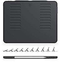 The Muse Case – 2018 iPad Pro 12.9 inch 3rd Gen (New Model) – Very Protective But Thin + Convenient Magnetic Stand + Sleep/Wake Cover by ZUGU CASE (Black)