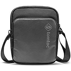 tomtoc Mini Crossbody Bag, 8-inch Small Messenger Bag for iPad Mini 5 4 3 2 1, Galaxy Tab 8.0, Switch Lite Console, iPhone, Wallet, Passport, Men Daily Shoulder Bag Pouch EDC Bag for Work, Weekend
