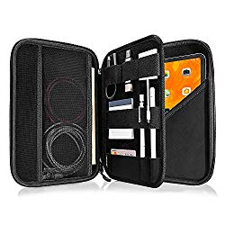 tomtoc Portfolio Case for 11 inch iPad Pro / 10.2 New iPad 2019/10.5 iPad Air / 10.5 iPad Pro, Organizer Bag Holder for iPad Pencil, Cable, A5 Note, Business Storage Padfolio with Tablet Sleeve