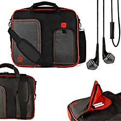 Vangoddy Pindar Shoulder Bag for Zeki 10 inch Tablets (TBQG1084B, TBQC1063B, TBDC1093B, TBD1083B, TB1082B) and Handsfree Earphones