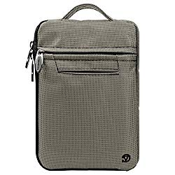 Vangoddy VG Gray Nylon Hydei Carrying Bag for BLU TouchBook 7.0 Pro P60w 7 inch Tablet