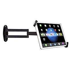 Wall Mount, CTA Digital Articulating Security Holder for 7-13″ Tablets/iPad 10.2-inch (7th Gen.), iPad Air 3, iPad Mini 5, 12.9-inch iPad Pro, 11-inch iPad Pro, iPad Gen 6,/Surface Pro 4 & More