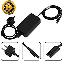 YIPBOWPT Surface Pro Surface Laptop Charger, 44W 15V 2.58A UL Listed Power Supply Compatible Microsoft Surface Pro 6 Pro 5 Pro 4 Surface Laptop 2 & Surface Go with 5V 1A USB Charging Port