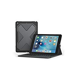 ZAGG – Rugged Messenger – Backlit Case and Bluetooth Keyboard – Compatible with 2018 (G6) and 2017 (G5) Apple iPad 9.7″ – Durable Case with Built-In Stand – Multiple-Device Pairing – Black