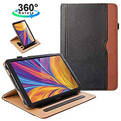ZoneFoker New Samsung Galaxy Tab A 10.1 inch 2019 Tablet Leather Case, 360 Rotating Multi-Angle Viewing Folio Stand Cases with Pencil Holder for Galaxy Tab A 10.1 SM-T510/SM-T515 – Black/Brown
