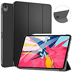 Ztotop Case for iPad Pro 11″ 2018 – Slim Lightweight Trifold Stand Smart Shell with Auto Wake/Sleep + Rugged Translucent Back Cover Support iPad Pencil Charging for iPad Pro 11, Black