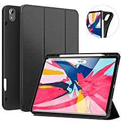 ZtotopCase for iPad Pro 12.9 Inch 2018, Full Body Protective Rugged Shockproof Case with iPad Pencil Holder, Auto Sleep/Wake, Support iPad Pencil Charging for iPad Pro 12.9 Inch 3rd Gen – Black