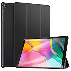 ZtotopCase for Samsung Galaxy Tab A 10.1 2019, Ultra Slim Lightweight Trifold Stand Smart Folio Case Hard Cover for Samsung Tab A 10.1 Inch Tablet SM-T510/SM-T515 2019 Release – Black