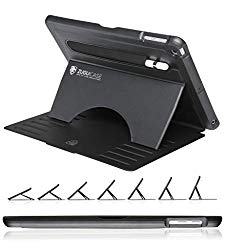 ZUGU CASE – 9.7 iPad 2018/2017 5th / 6th Gen & iPad Air 1 Prodigy X Case – Very Protective But Thin + Convenient Magnetic Stand + Sleep/Wake Cover (Black)